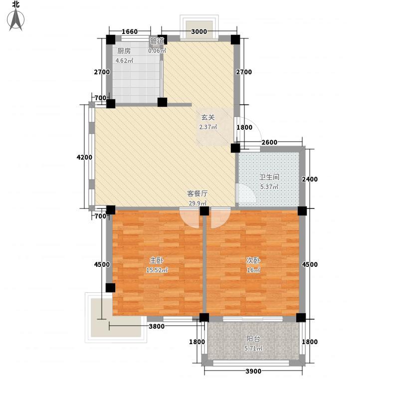 三江鸣翠桃源3.84㎡多层边套户型2室2厅1卫1厨