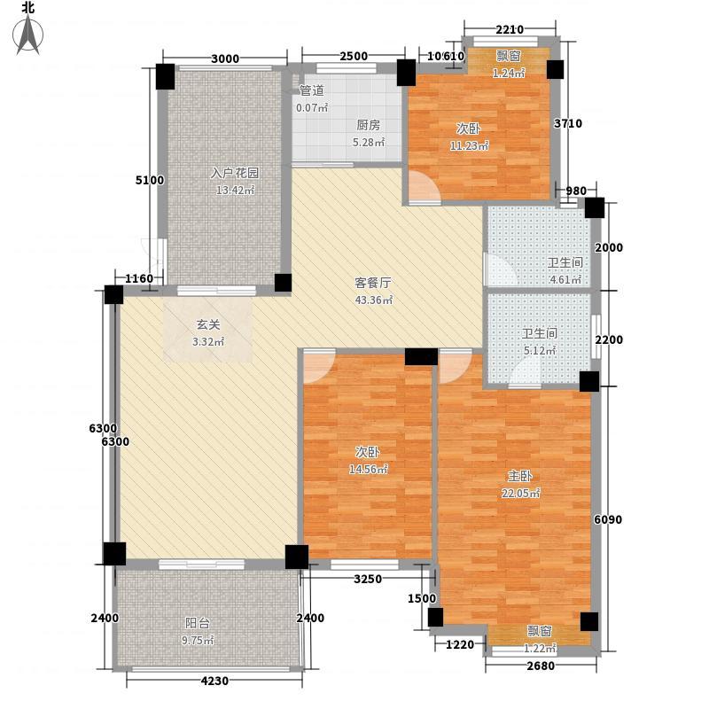 博大・江山如画142.47㎡1-A户型3室2厅2卫1厨