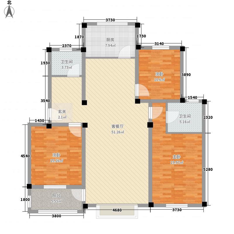 四季圣园135.00㎡09副本户型3室2厅2卫1厨