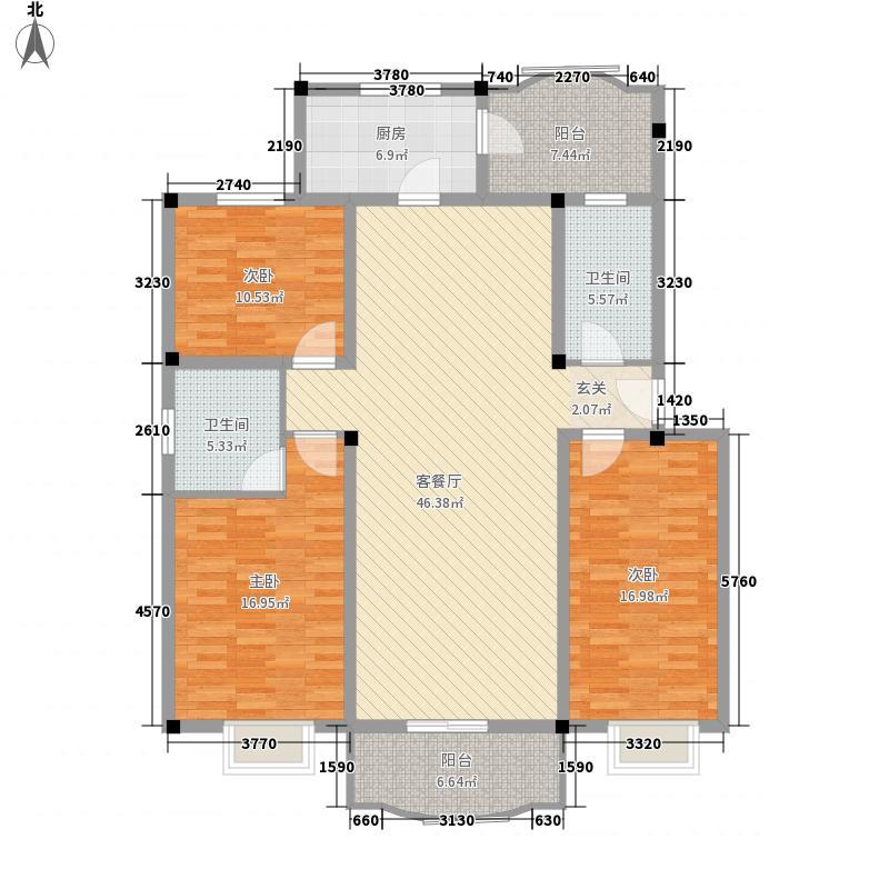 四季圣园138.00㎡户型3室2厅2卫1厨