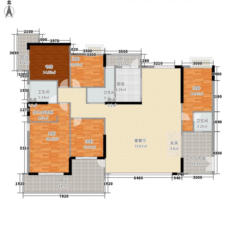 中银名苑15栋01单位户型5室2厅3卫1厨
