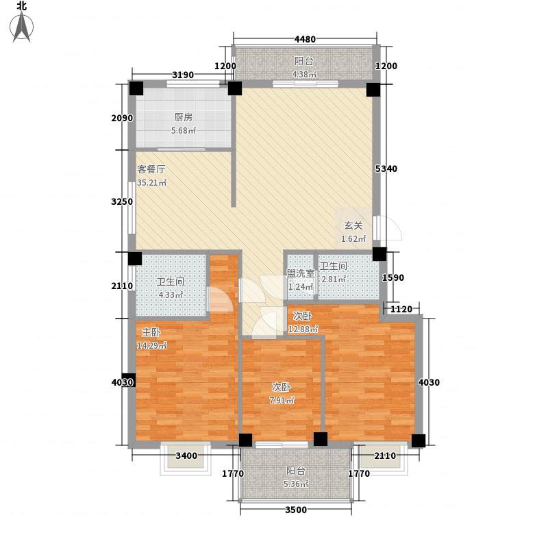 夏沁苑105.00㎡夏沁苑3室户型3室