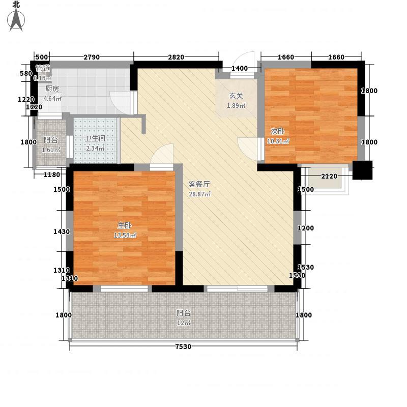 仁和佳园1户型2室2厅1卫1厨