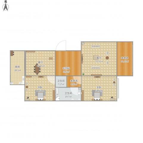 和谐家园2室2厅2卫1厨450.00㎡户型图