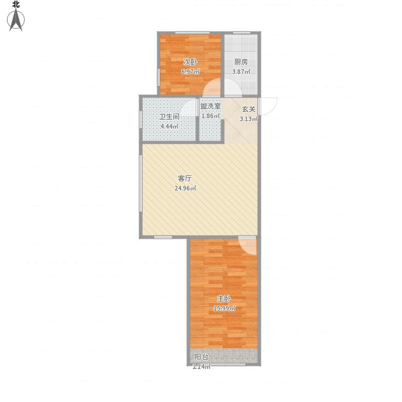 盛世华章90A1户型两室一厅