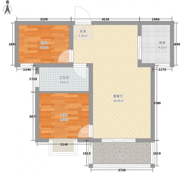 立威・金城丽景218.81㎡20100408-置业计算单(A1户)户型2室2厅1卫1厨
