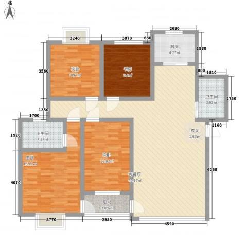湖东花城首府4室1厅2卫1厨150.00㎡户型图