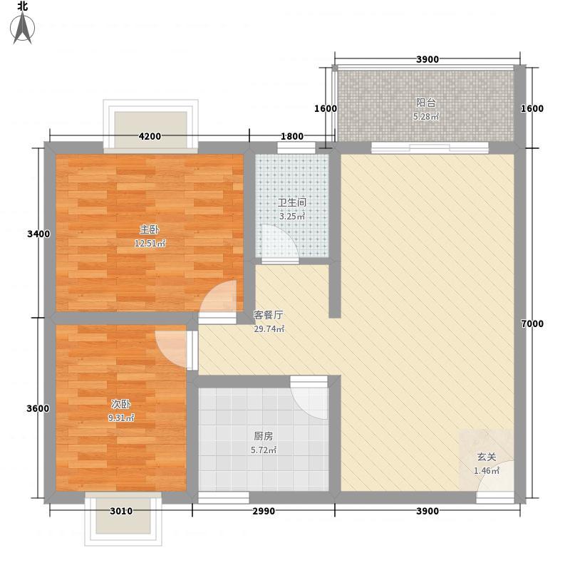 隆林・幸福花园378.83㎡G3户型2室2厅2卫1厨