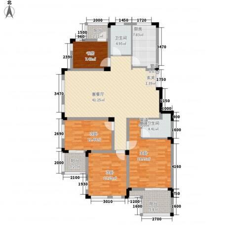 万科西街庭院4室1厅2卫1厨147.00㎡户型图