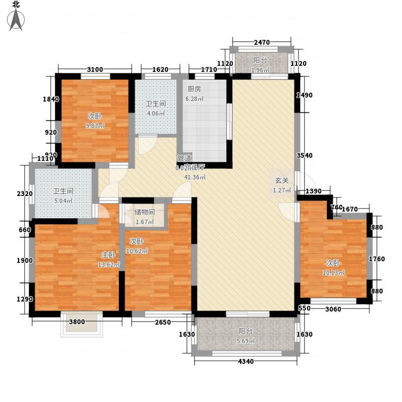 绿地迪亚上郡16.58㎡H8160户型4室2厅2卫