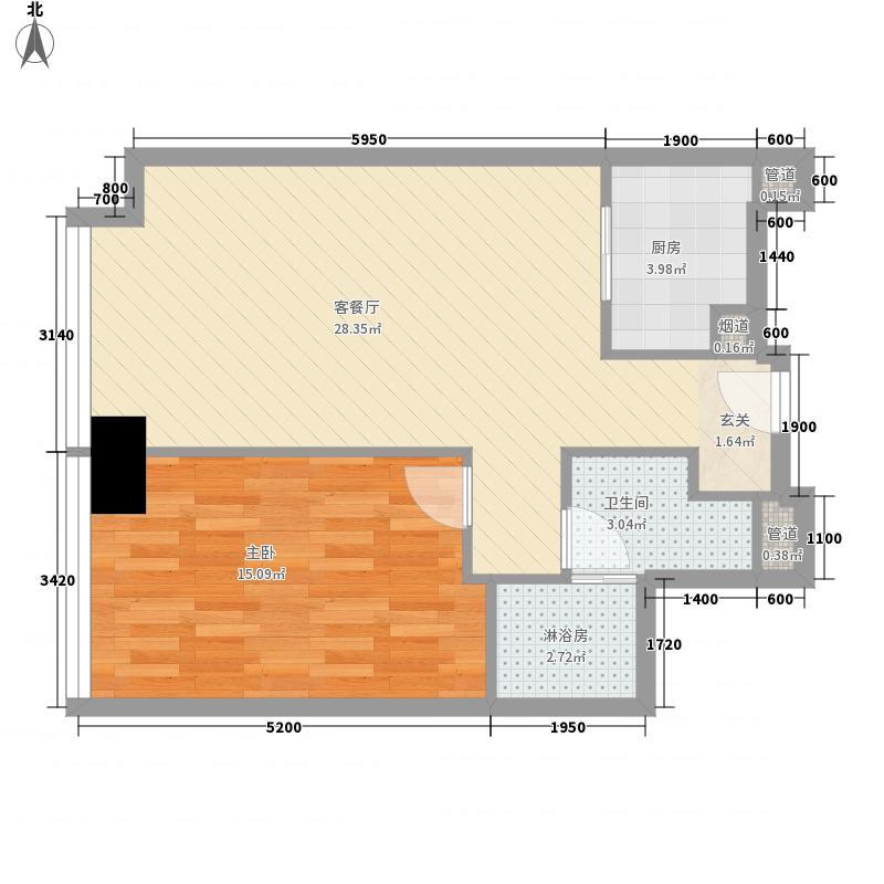 新世界・名汇125.00㎡B户型2室2厅1卫