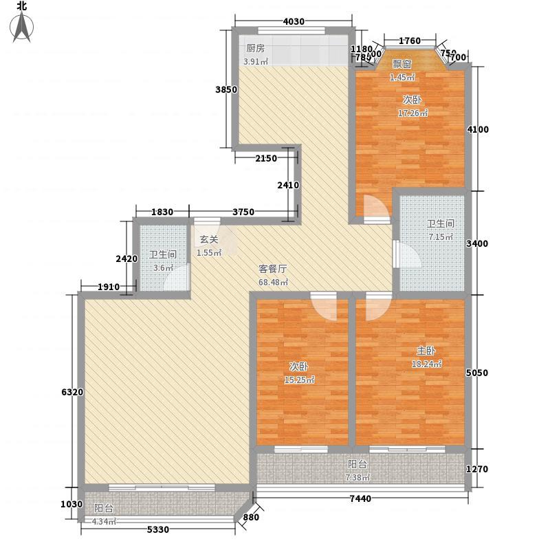 东龙花园151.45㎡东龙花园户型图3室2厅2卫1厨户型10室