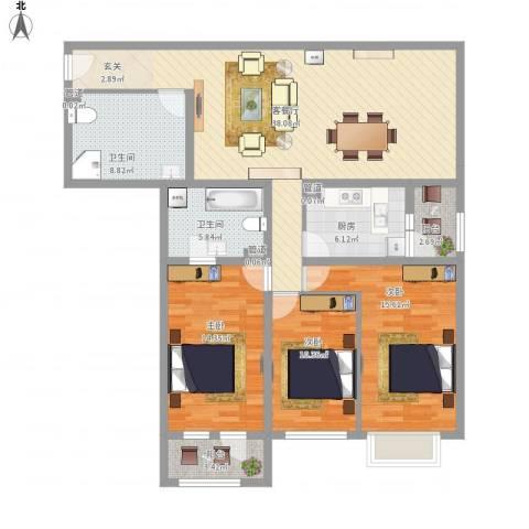 首座绿洲3室1厅4卫2厨150.00㎡户型图