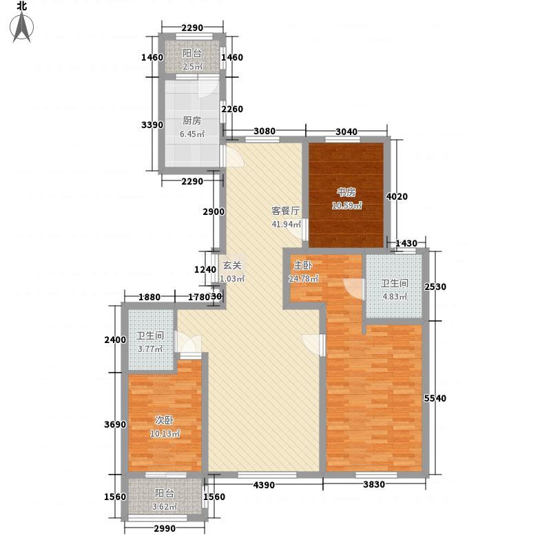 世家官邸155.87㎡C3户型3室2厅2卫