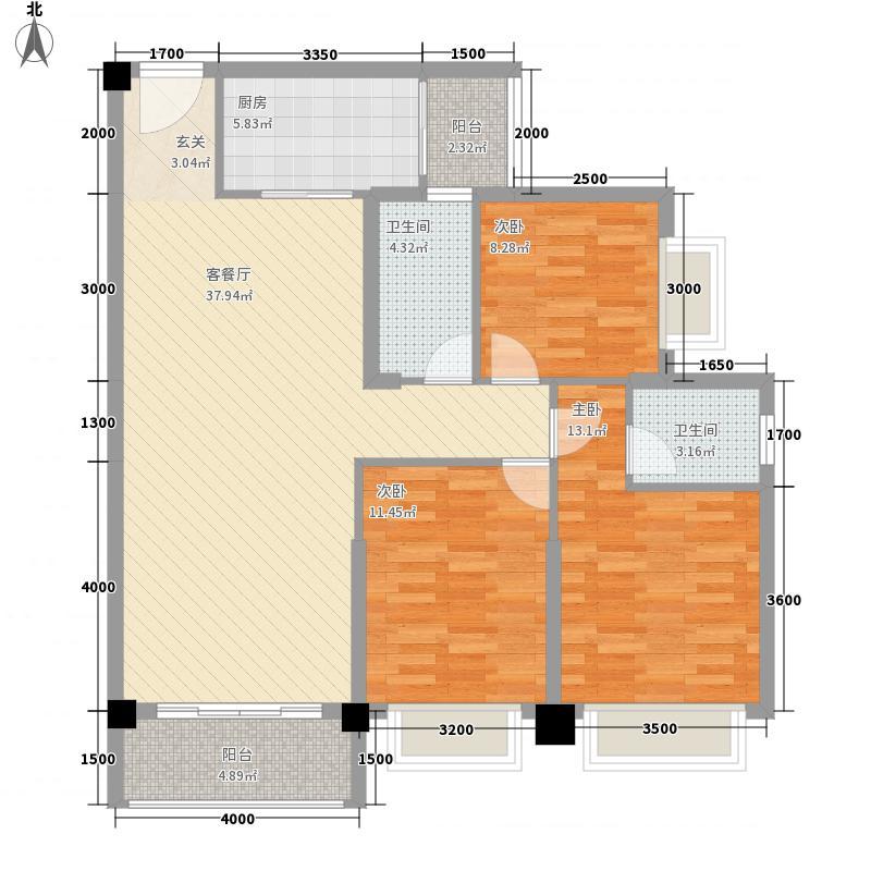 惠丰瑞城3322121.50㎡G户型3室2厅2卫1厨