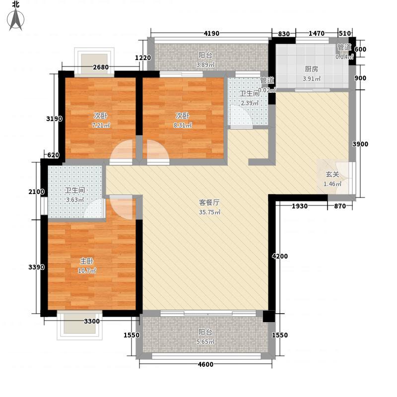 永丰鑫城3114.20㎡户型3室2厅2卫1厨