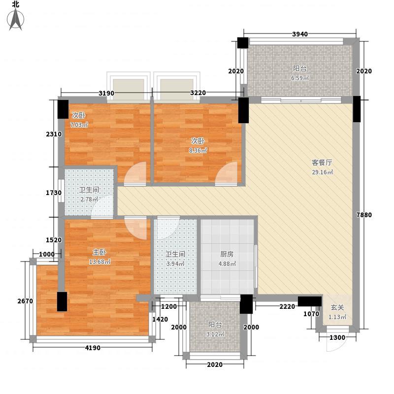 嘉俊雅苑113.72㎡5栋03户型3室2厅2卫1厨