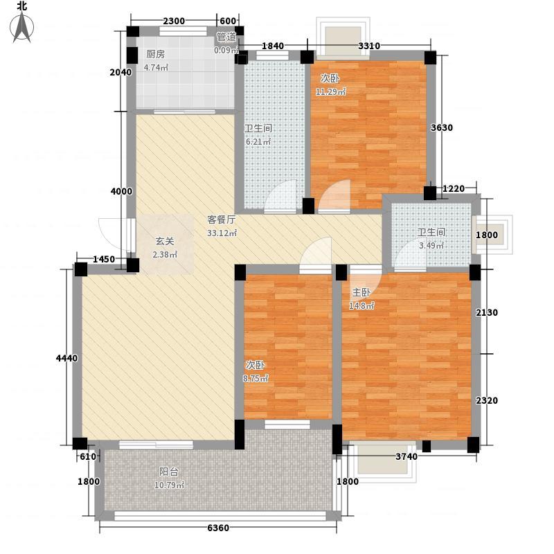 新安养生谷111.00㎡img013户型3室2厅2卫1厨