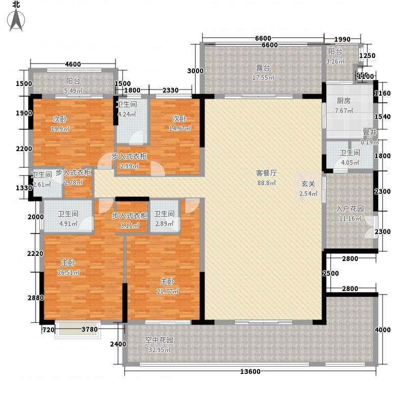 康美・福临门272.00㎡3-A1户型4室2厅5卫2厨