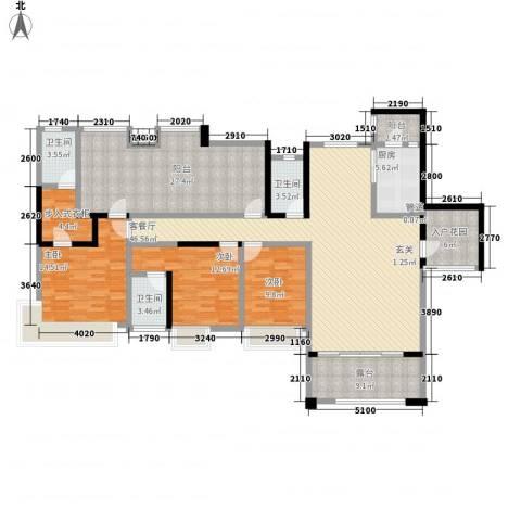 保利星座3室1厅3卫1厨180.00㎡户型图