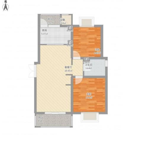 鹏欣一品漫城四期公寓2室1厅1卫1厨92.00㎡户型图