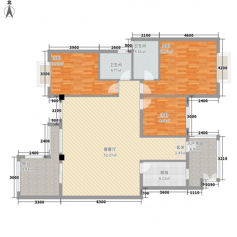 都匀一号43142.42㎡户型3室2厅2卫