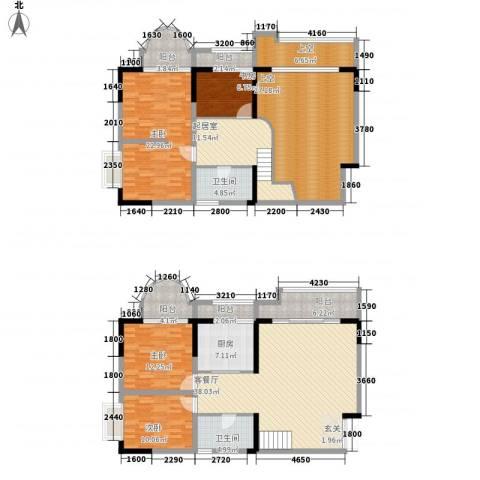 碧园花城4室1厅2卫1厨170.71㎡户型图