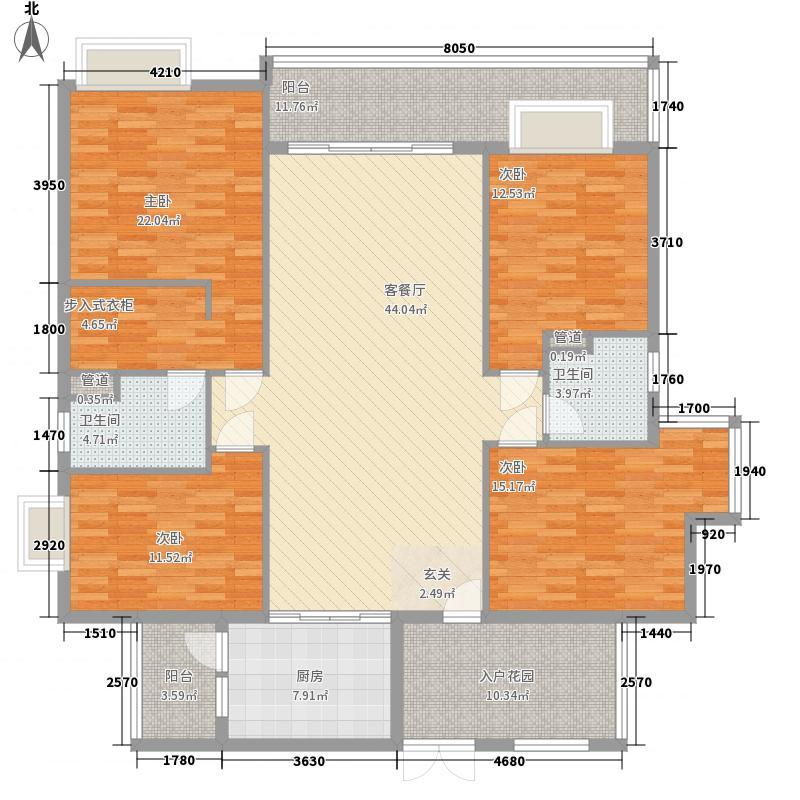 中银名苑16.88㎡7栋03单位户型4室2厅2卫