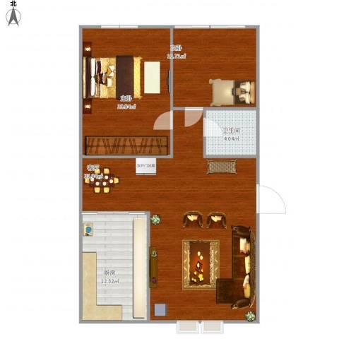 潍坊齐荣家园2室1厅1卫1厨116.00㎡户型图