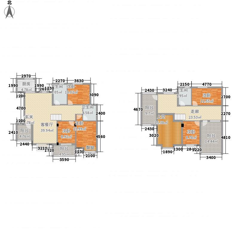 义和花园12.00㎡B4侯爵(东)户型6室3厅3卫1厨