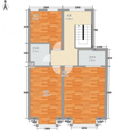 温莎公馆3室0厅3卫0厨95.00㎡户型图
