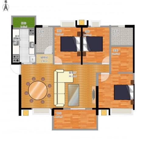 新世纪领居三期3室1厅2卫1厨143.00㎡户型图
