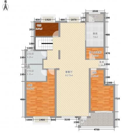 温莎公馆3室1厅2卫1厨185.00㎡户型图