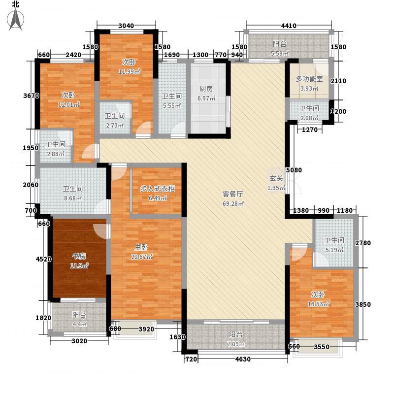名门世家28.87㎡户型5室2厅6卫1厨