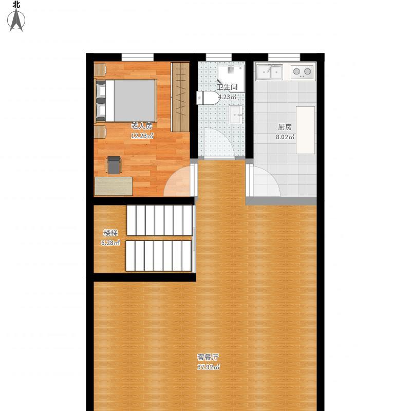 新乡-珠峰家园联排一楼-设计方案