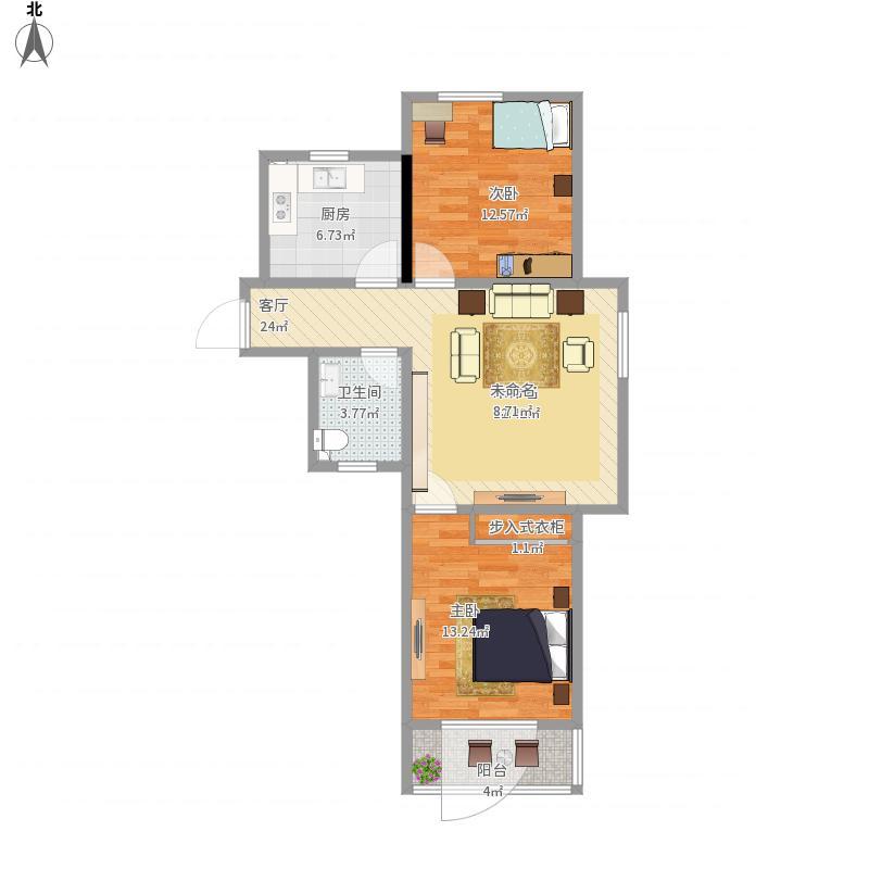 翠湖小区70方二室一厅