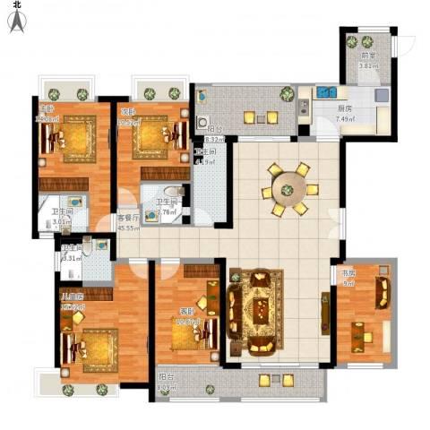 新世纪颐龙湾二期5室1厅4卫1厨208.00㎡户型图