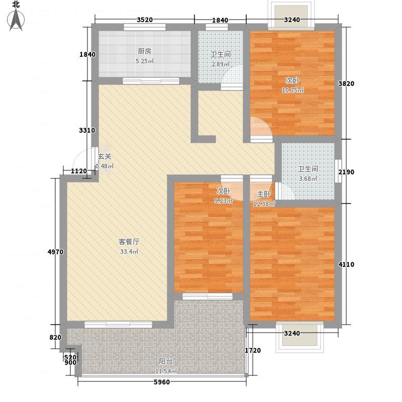 世博美域412.16㎡C-4A户型3室2厅2卫1厨