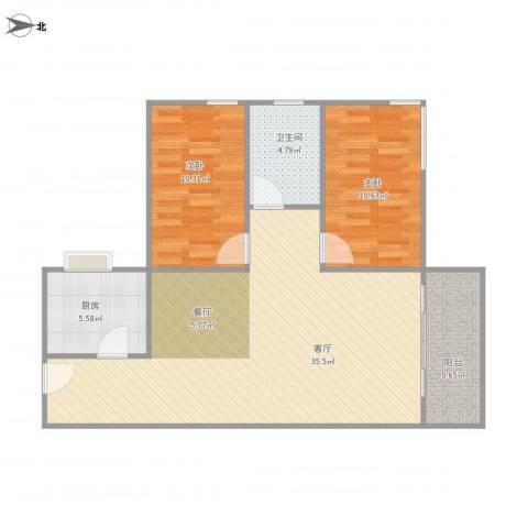 东方顺景4栋12052室1厅1卫1厨97.00㎡户型图