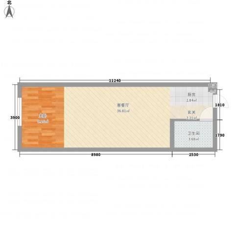 怡众名城1厅1卫0厨69.00㎡户型图
