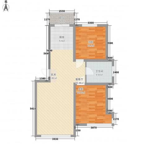 锦山秀城2室1厅1卫0厨94.00㎡户型图
