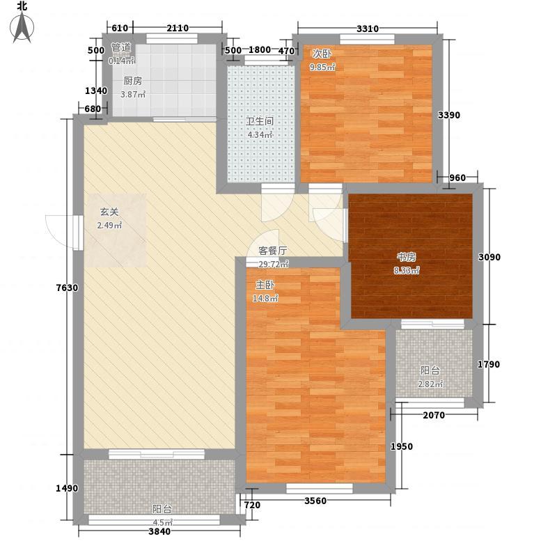 福田・金桂花园15.00㎡C户型3室2厅1卫1厨