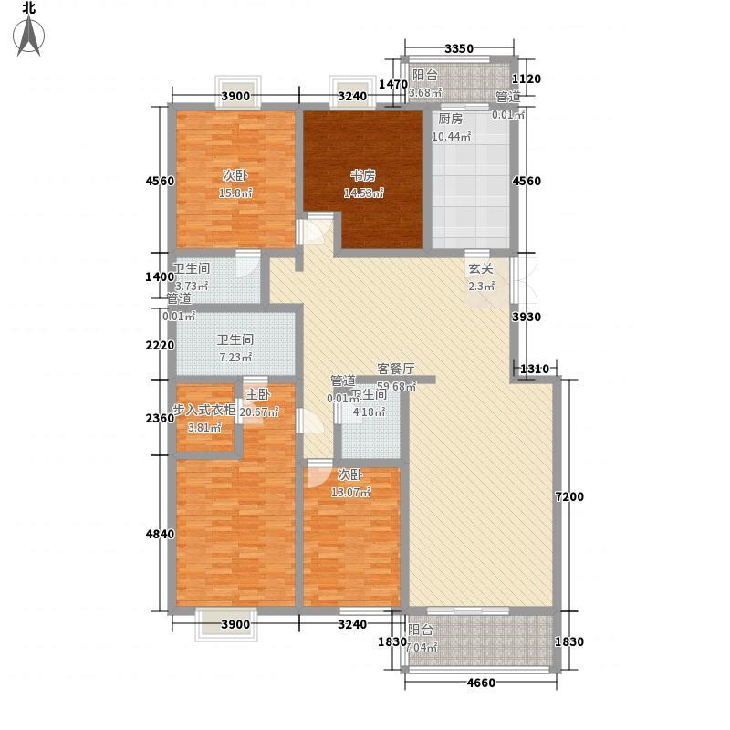 胜古馨园户型3室2厅2卫1厨