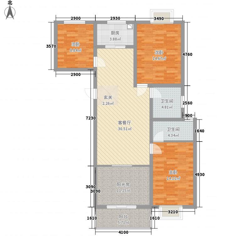 立威・金城丽景2114.13㎡20100408-置业计算单(A2户)户型3室2厅2卫1厨