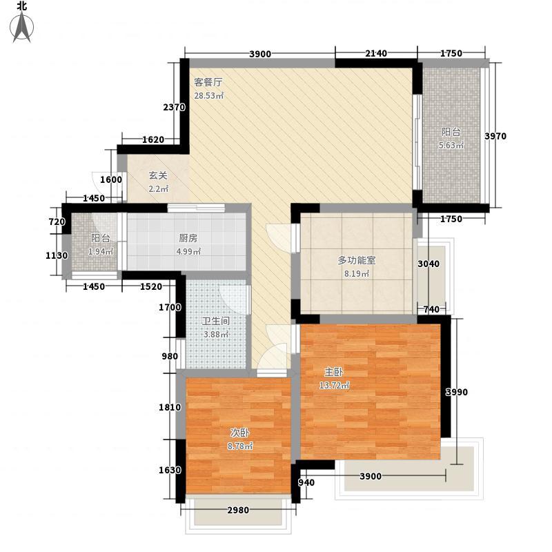 四海国际32115.20㎡户型3室2厅1卫1厨