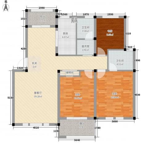 中通・凤凰城3室2厅2卫1厨118.00㎡户型图