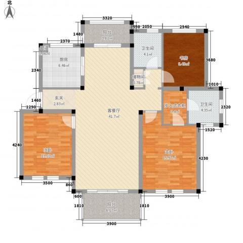 中通・凤凰城3室1厅2卫1厨125.00㎡户型图