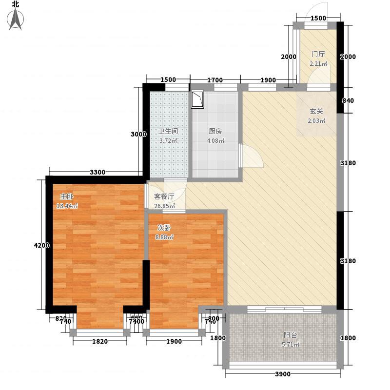 聚镇16.44㎡1#楼06单元、2#楼01单元户型3室2厅2卫1厨