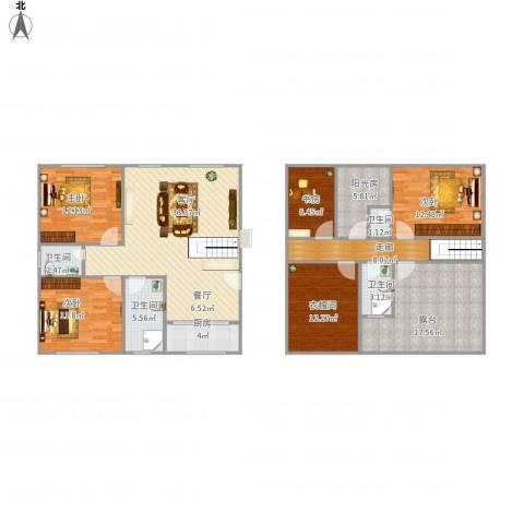 欧典家园4室1厅4卫1厨184.00㎡户型图