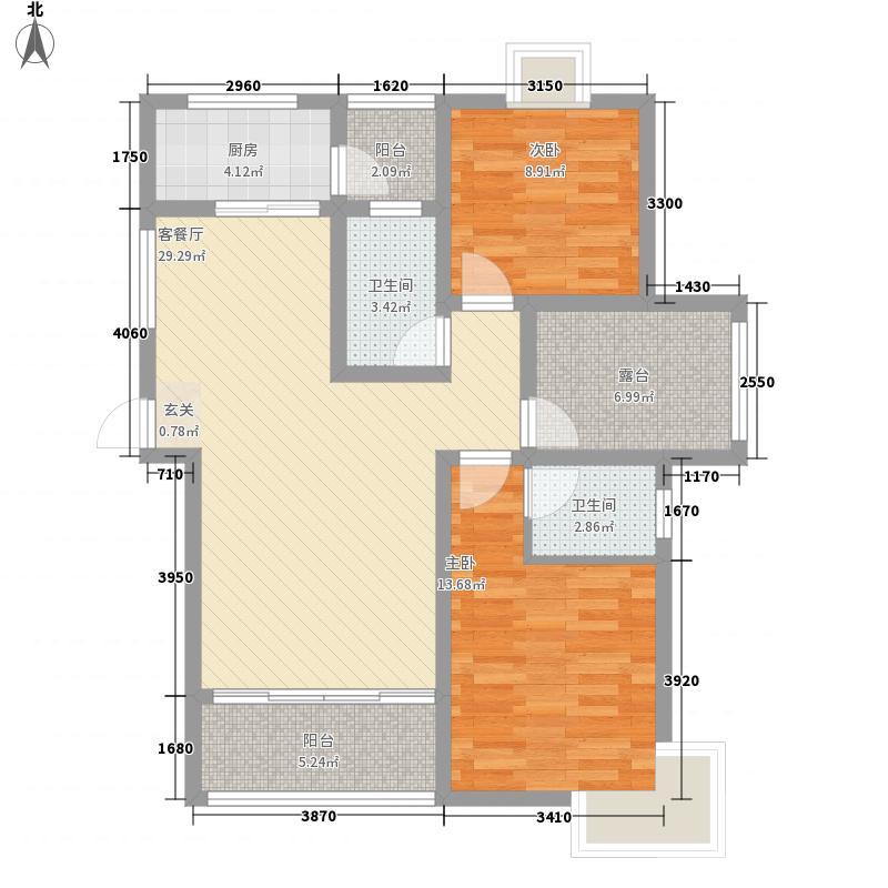千年美丽112.25㎡G3户型3室2厅1卫1厨